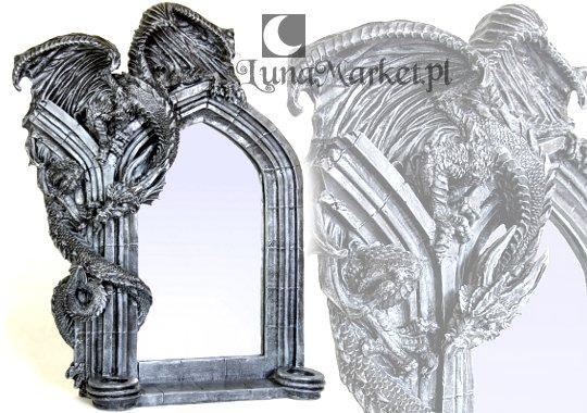 gotyckie lustro ze Smokiem