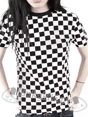 koszulka SZACHOWNICA biała