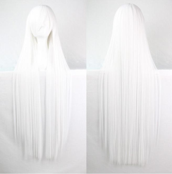 Długa, biała peruka