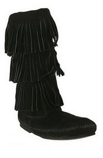 Minnetonka Triple Fringe Boots