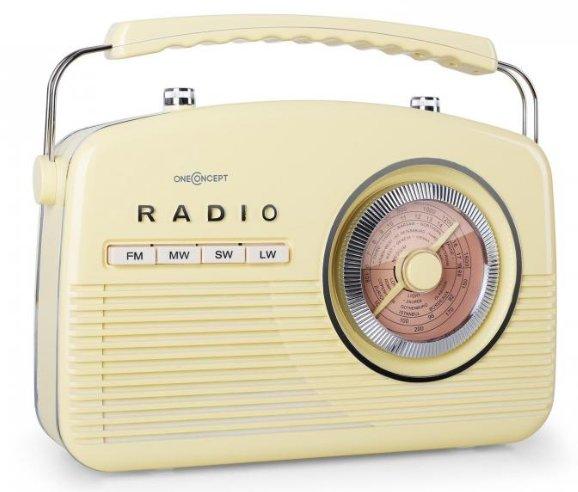 Okazja radio retro walizka FM AM SW MW OneConcept