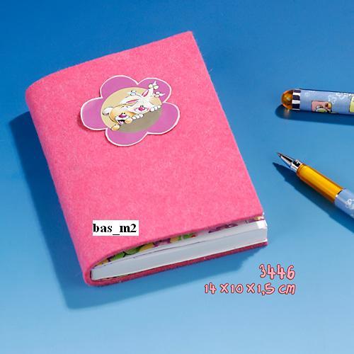 Piękny milutki różowy duży i gruby pamiętnik