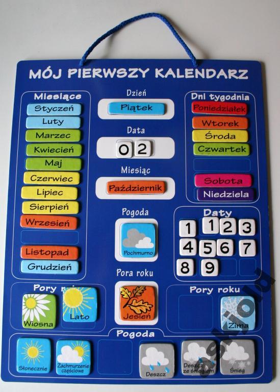 MOJ PIERWSZY KALENDARZ (na wiele lat)+ 42 magnesy (813998028) - Aukcje internetowe Allegro