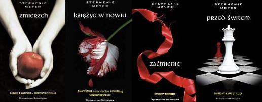 książki STEPHENIE MEYER saga ''Zmierzch''