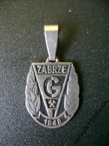 Srebrny wisiorek Górnik Zabrze
