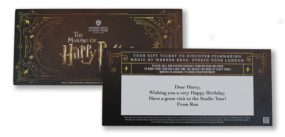 Bilet do studia WB - Making of Harry Potter :)