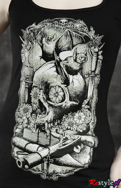 Czarna BOKSERKA Wampirzy ołtarzyk, na ramiączkach