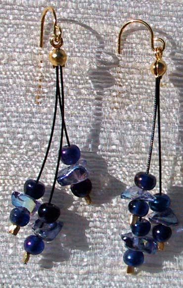 Niebieskie kolczyki