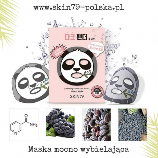 SKIN79 Animal Mask - For Dark Panda; Maska mocno wybielająca