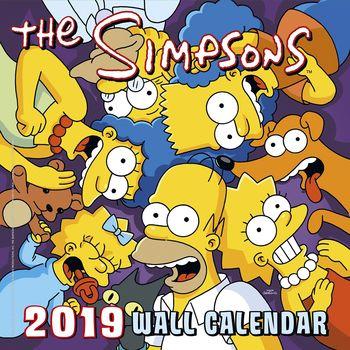 Simpsons 2019 Kalendarz ścienny