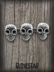 pierścionek CZASZKI srebrny