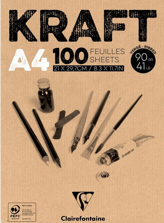 Blok brązowy Kraft A4/100 kartek