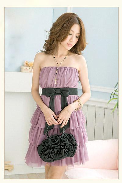 Fioletowa sukienka JAPAN STYLE