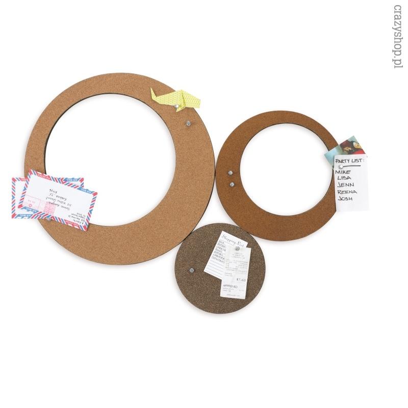 Okrągłe tablice korkowe