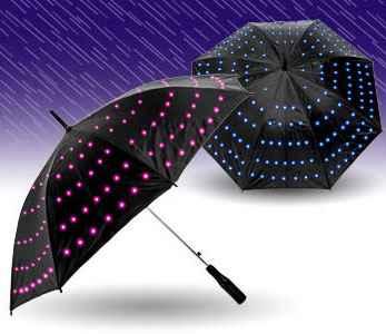 Czarna Parasolka Odblaskowa z nowatorskimi światełkami
