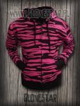 bluza zebra różowa | GLOVESTAR punk rock sklep skelanimals emo ciuchy hello kitty scene ubrania piercing shop