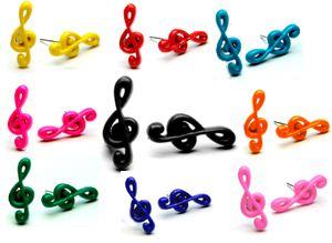 Kolczyki klucz wiolinowy
