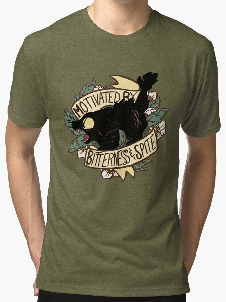 Motivated by Bitterness and Spite Tri-blend T-Shirts