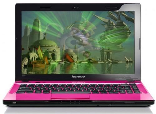 Laptop LENOVO Z470 pink