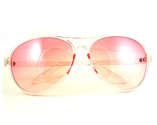 Różowe okulary TRANSPARENTNE