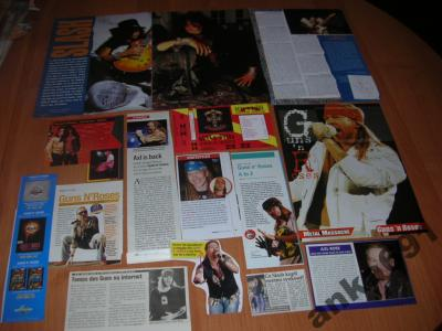 Slash Axl Rose Guns n' Roses materiały z prasy