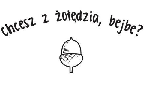 Koszulka Niekrytego Krytyka 'Chcesz z żołędzia , bejbe ?'
