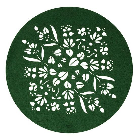 zielona wycinana podkładka