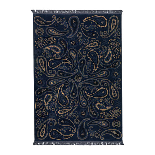 VILSUND Dywan z krótkim włosiem, niebieski