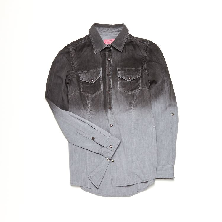 dżinsowa szara koszula ombre