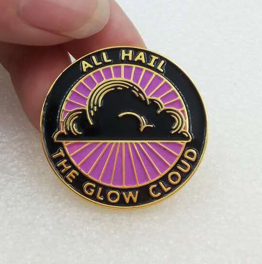 All Hail the Glow Cloud Lapel Pin