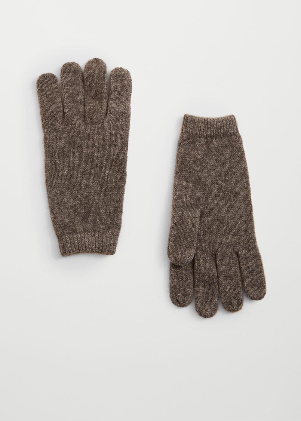 Rękawiczki kaszmir 100% ciemnoszary