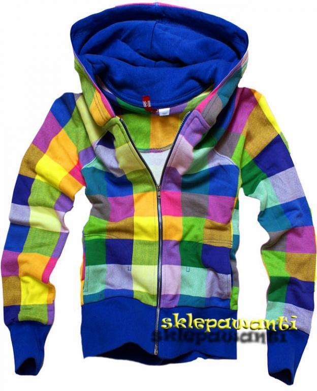 bluza w kratke kolorowa