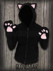 Glovestar bluza kotek black + łapki