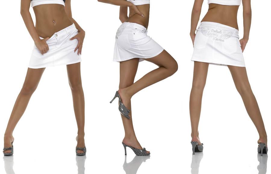 Biała spódniczka mini