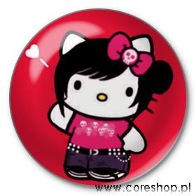 Przypinka emo Hello Kitty