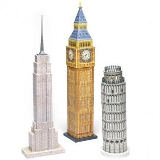 Trójwymiarowe Puzzle Wielkie Budowle