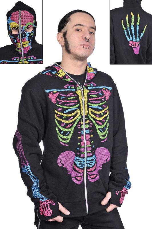 Bluza skeleton kolor