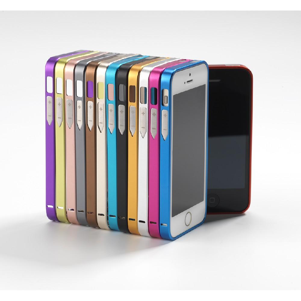 PANZERGLASS Ramka aluminiowa iPhone SE/5S/5 czarna