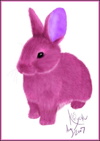 Różowy króliczek