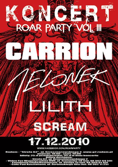 bilet na Roar Party 17.12.10