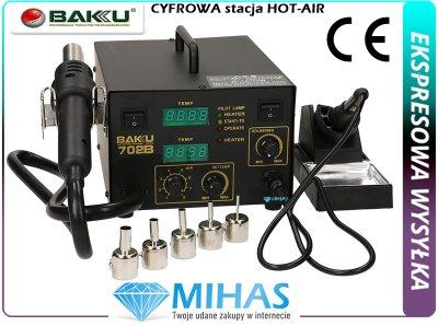 Stacja lutownicza HOT-AIR gorące powietrze + GROT