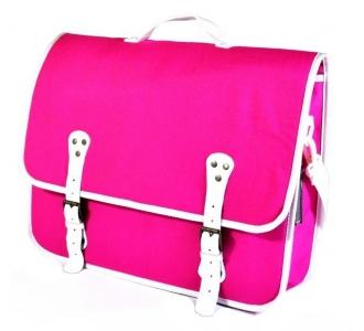 torba na rower różowa