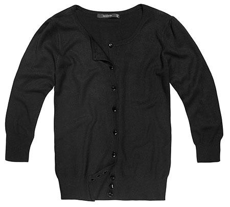 Czarny sweterek Reserved