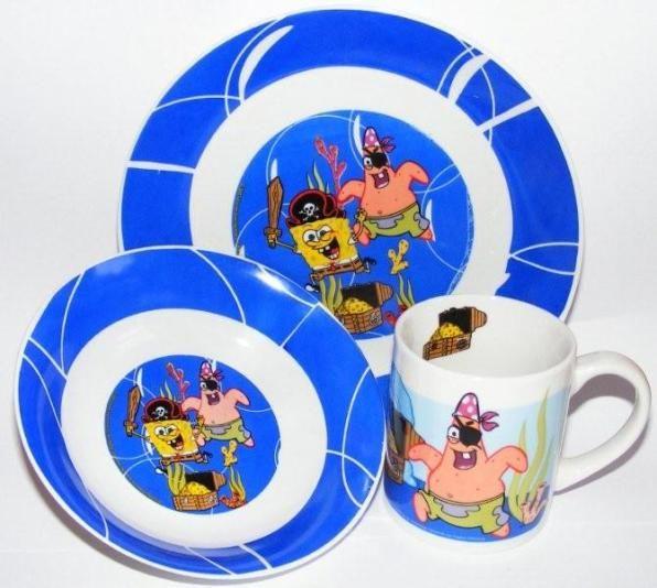 Komplet naczyń SpongeBob