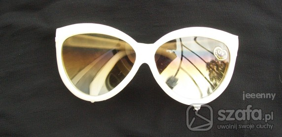 okulary lata 60 i 70 biale oprawki ala kokardki
