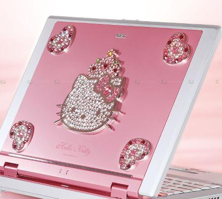 Śliczny laptop z Hello Kitty