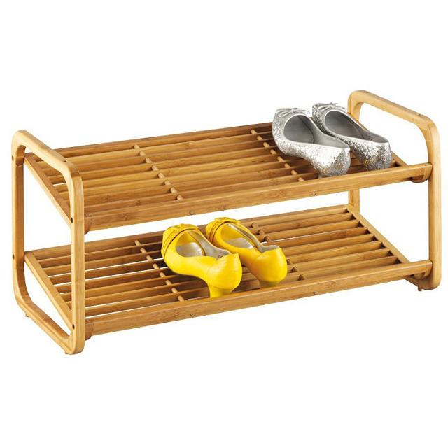 bambusowy stojak na obuwie