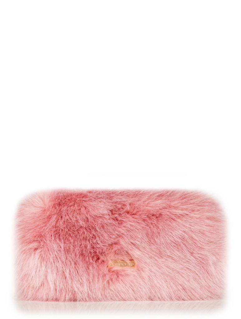 Candy Fur Clutch Bag