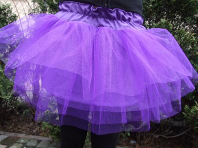 Fioletowa spódnica z tiulu