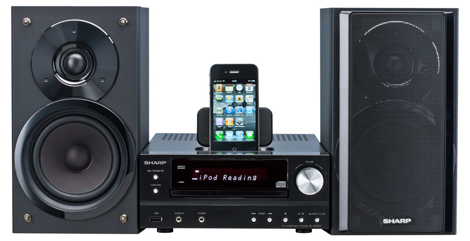 SHARP XL-HF201PHBK iPad, iPod, iPhone, MP3, USB
